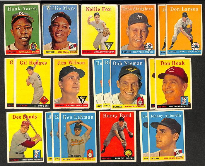 Lot Detail Lot Of 30 1958 Topps Baseball Cards W Hank Aaron