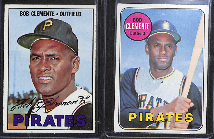 Lot Detail Lot Of 6 Topps Roberto Clemente Cards From 1967 1971