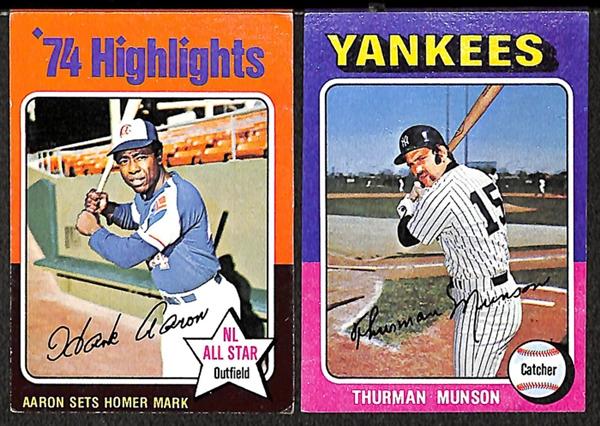 Lot Detail Assortment Of Hostess Topps Baseball Cards