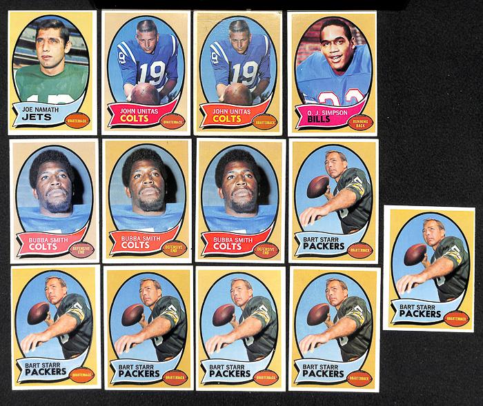 Lot Of 150 1970 Topps Football Cards W. Joe