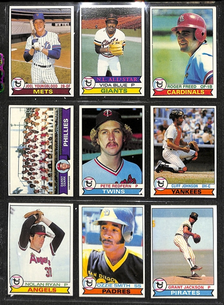 Lot Detail 1979 Topps Baseball Complete Set W Ozzie Smith