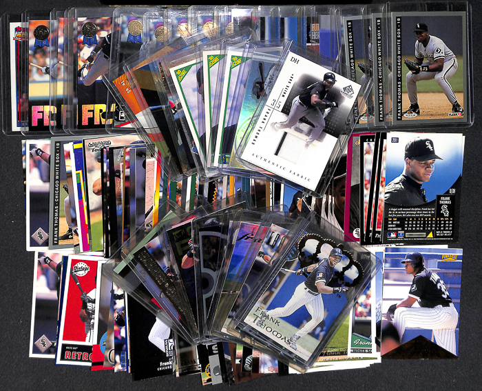 Lot Detail Lot Of 145 Assorted Frank Thomas Cards W Relics Rookies