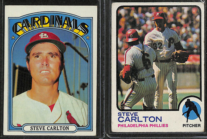 Lot Detail Lot Of 28 Assorted Steve Carlton Cards W 1969