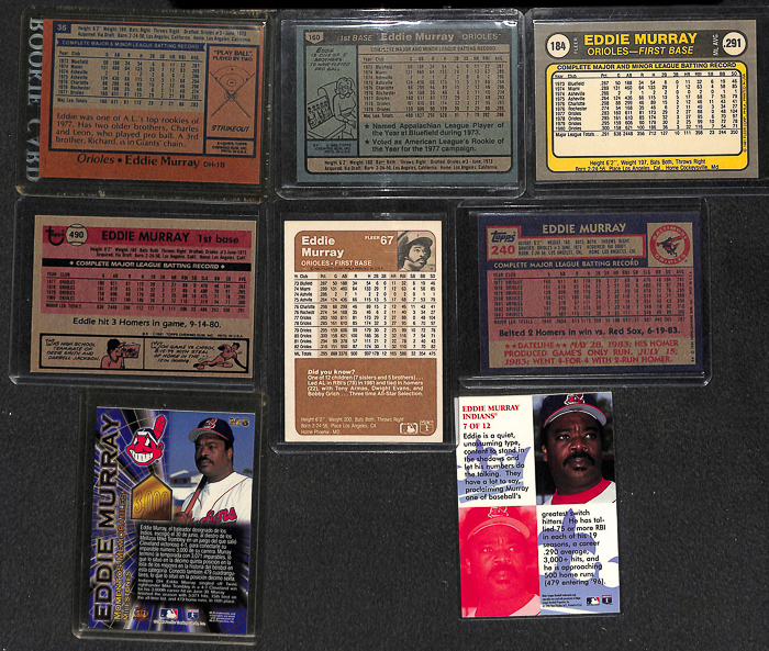 Lot Of 60 Assorted Eddie Murray Cards W. 3