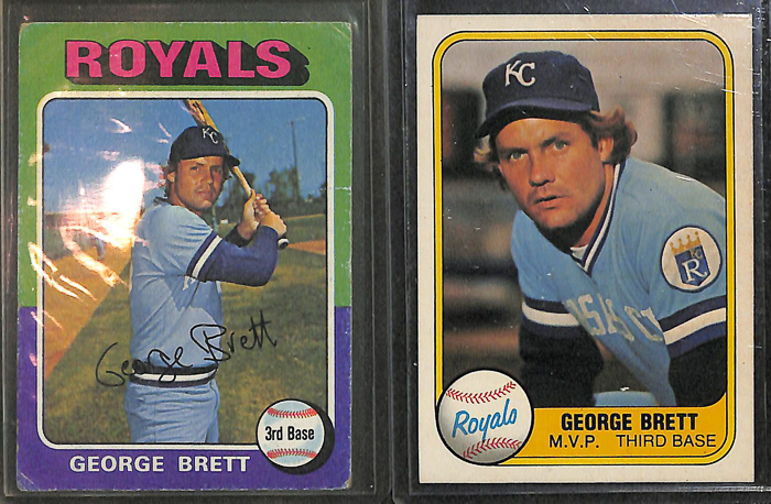 Lot Detail Lot Of 100 Assorted George Brett Cards W 1975