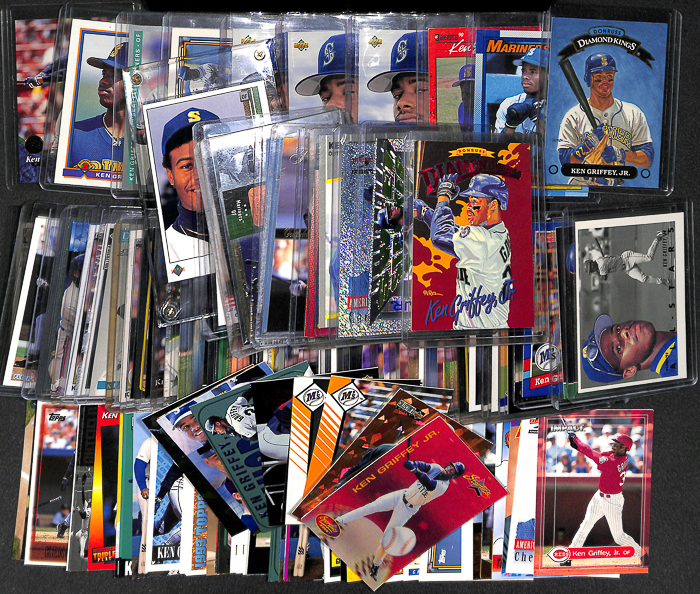 Lot Of 5 Rookie Baseball Cards With Ken Griffey Jr 1989: Lot Of 110 Assorted Ken Griffey Jr Cards W