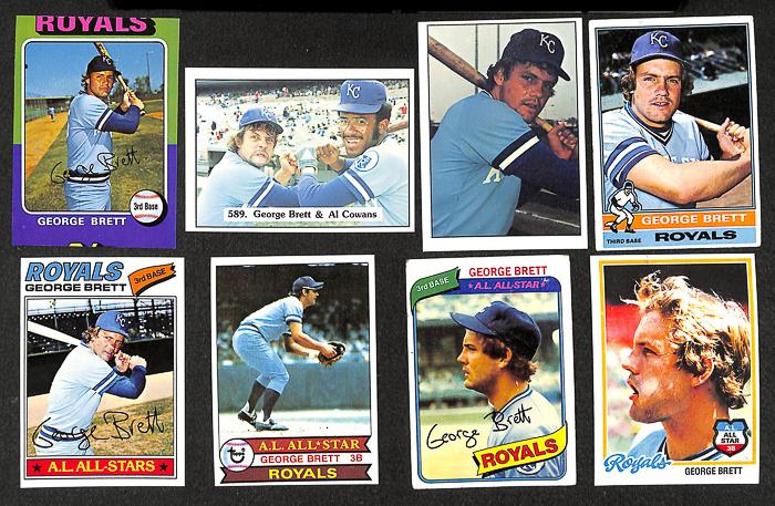 Lot Detail Lot Of 62 Toppssspc George Brett Baseball Cards W