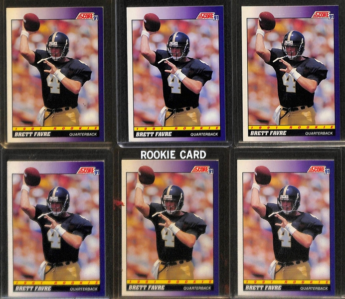 Lot Detail Lot Of 50 Brett Favre Rookie Cards