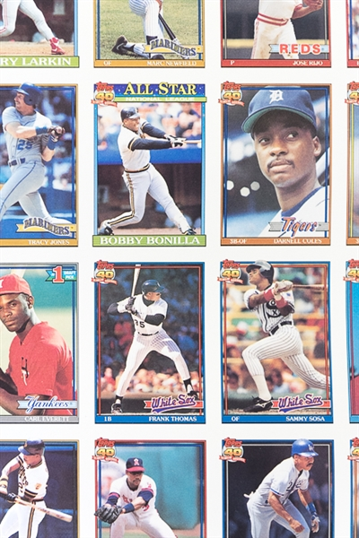 Lot Detail Lot Of 3 Different 1991 Topps Baseball Uncut