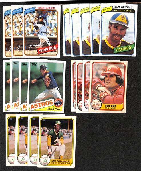Lot Detail Lot Of 600 1981 1989 Toppsfleerdonruss Star Baseball