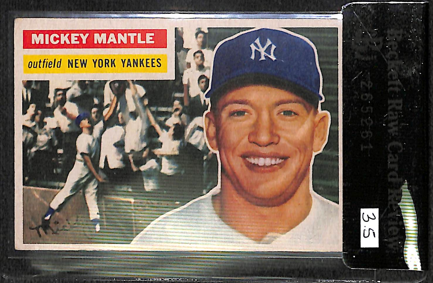 Lot Detail 1956 Topps Mickey Mantle Card 135 Bvg 35