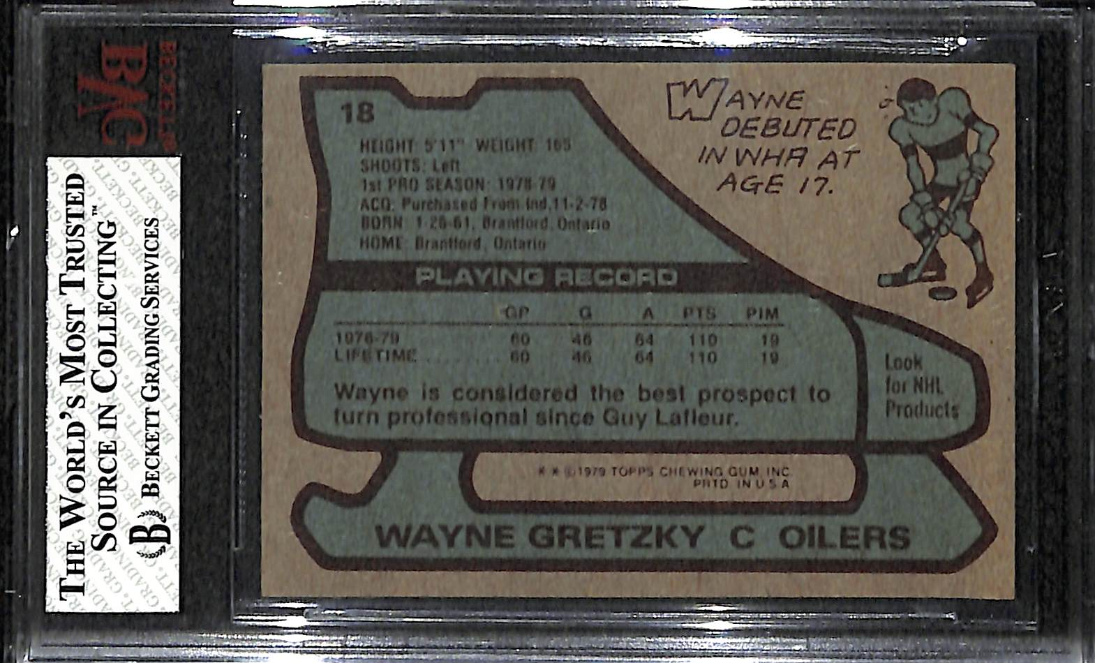 Lot Detail 1979 80 Topps Wayne Gretzky Rookie Card Graded