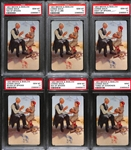 (6) 1953 Brown & Bigelow Connie Mack Playing Cards - Issued by Philadelphia As Organization - All PSA 10 Gem Mint