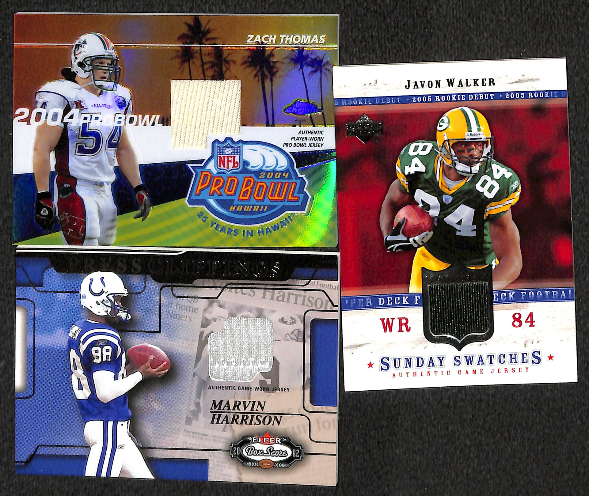 Lot of 50 Certified Football Relic Cards (Mostly Game-Worn Jersey Cards) w  ... 4f40b34ec