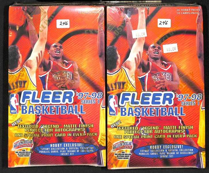 Lot Detail - Lot of (4) Unopened Basketball Hobby Boxes