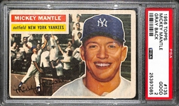 1956 Topps Mickey Mantle #135 PSA 2 (Good)