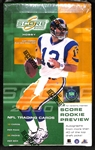 2000 Score Hobby Football Unopened Wax Box (Tom Bradys Rookie Year)