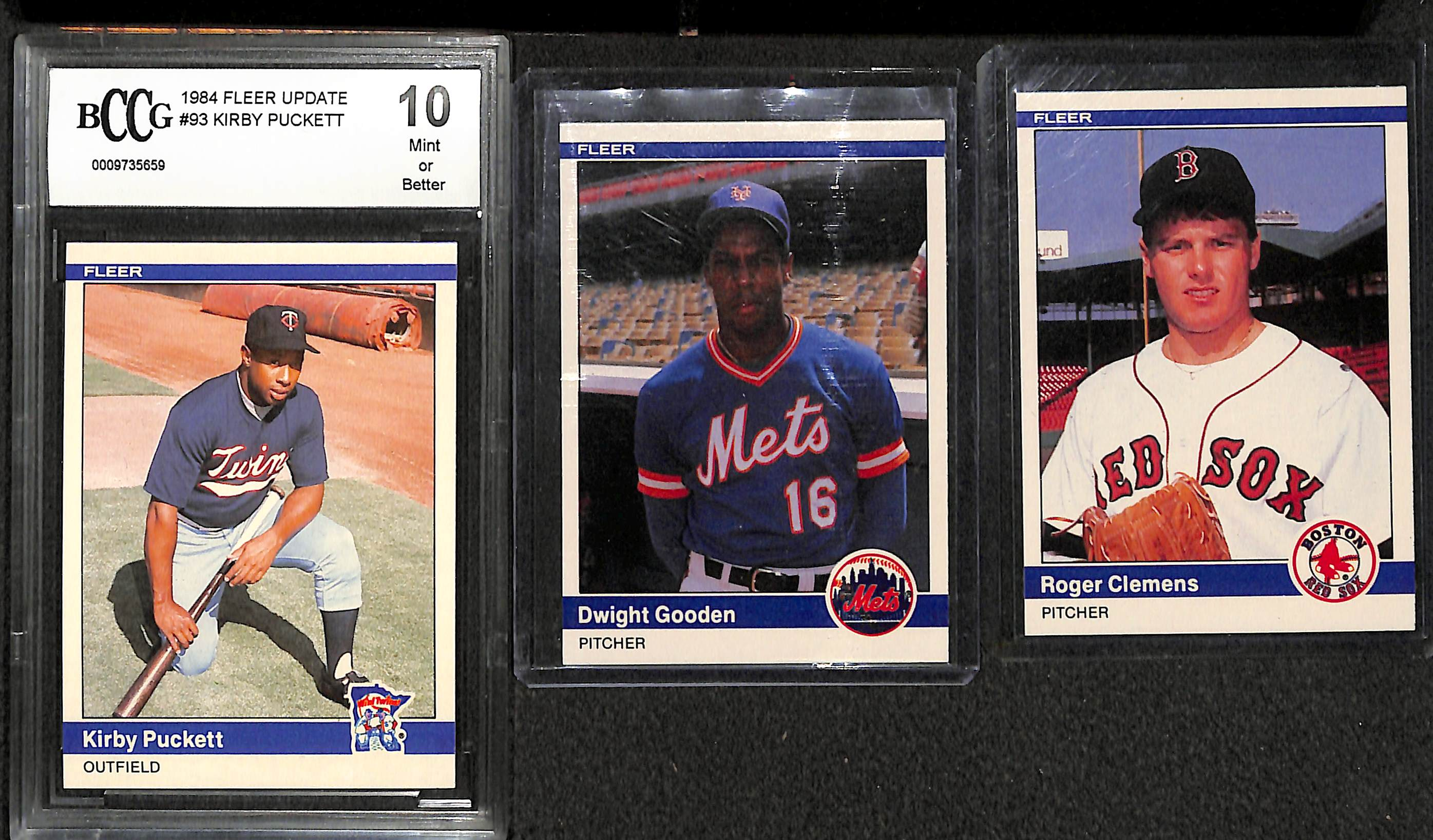 Lot Detail 1984 Fleer Update Set W Gooden Clemens And
