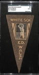 1916 Ferguson Bakery BF2 Felt Pennant Ed Walsh (White Sox) SGC Authentic