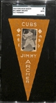 1916 Ferguson Bakery BF2 Felt Pennant Jimmy Archer (Cubs) SGC Authentic