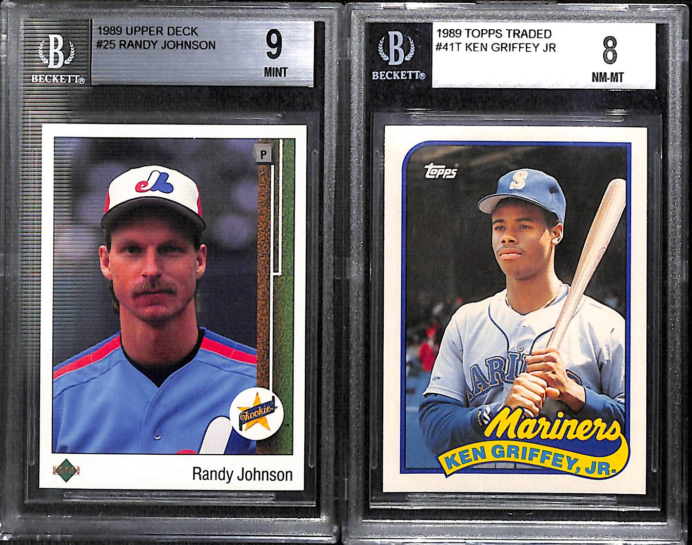 Lot Detail Lot Of 23 Graded Baseball Cards W 1989 Ud