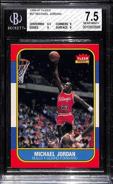Lot Detail 1986 87 Fleer Michael Jordan Rookie Card 57
