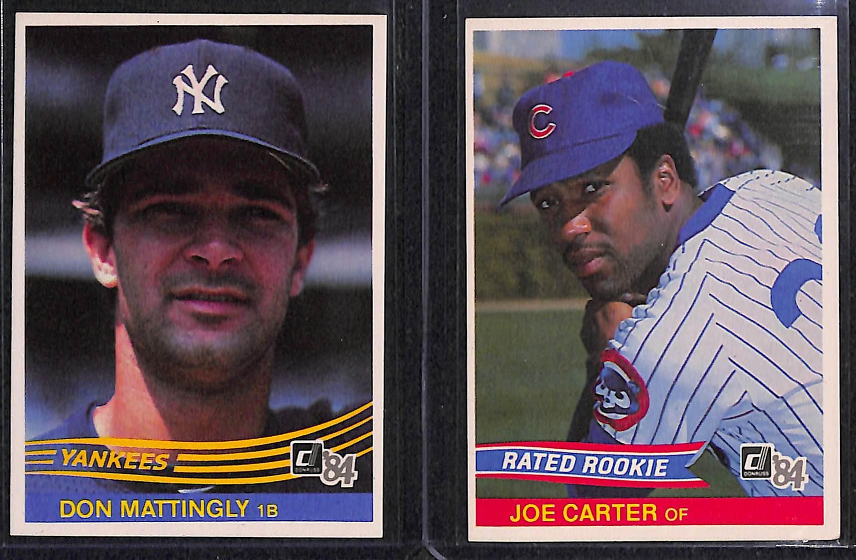 Lot Detail 1984 Donruss Baseball Complete Set W Mattingly Rookie