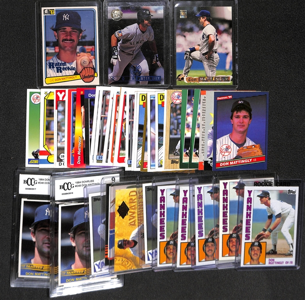 Lot Of Over 40 Don Mattingly Cards (7 Rookies