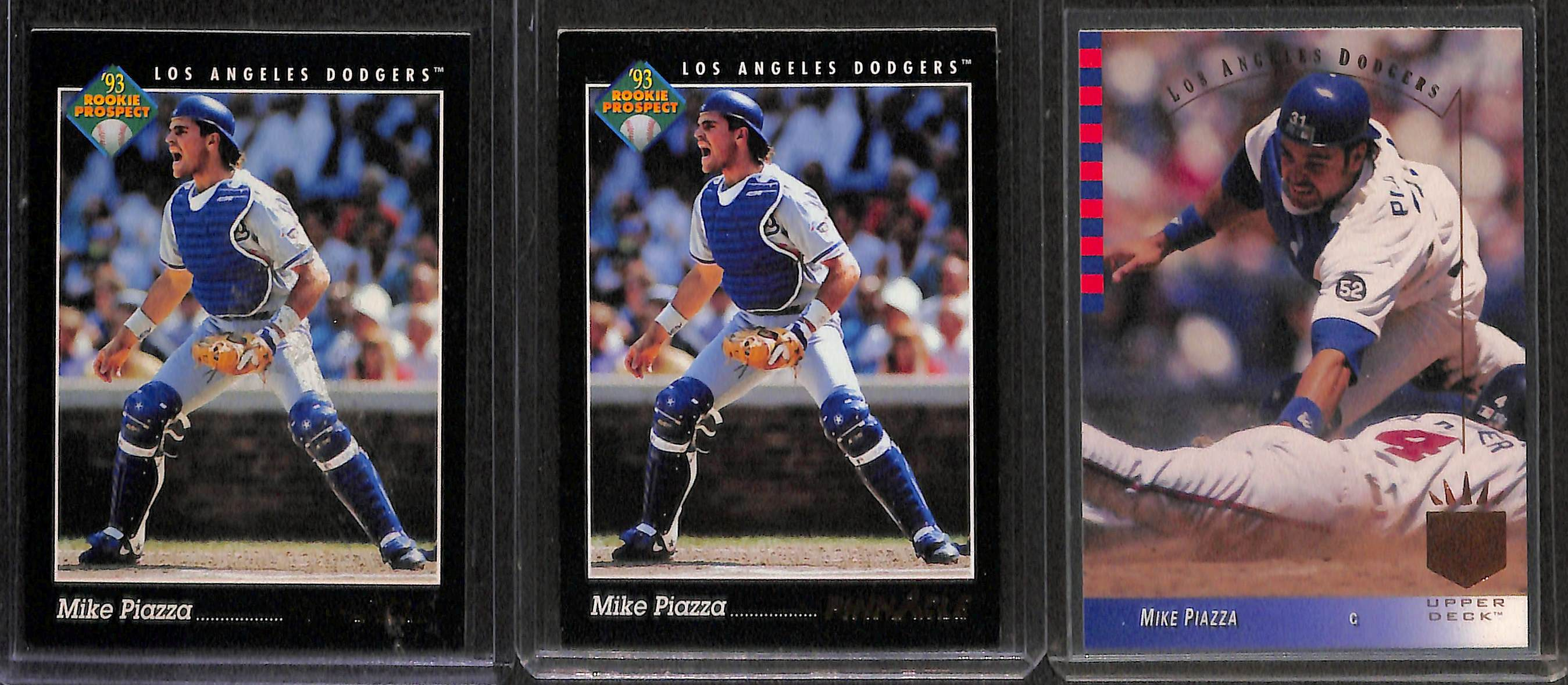 Lot Detail Lot Of 100 Mike Piazza Cards With Many Rookies