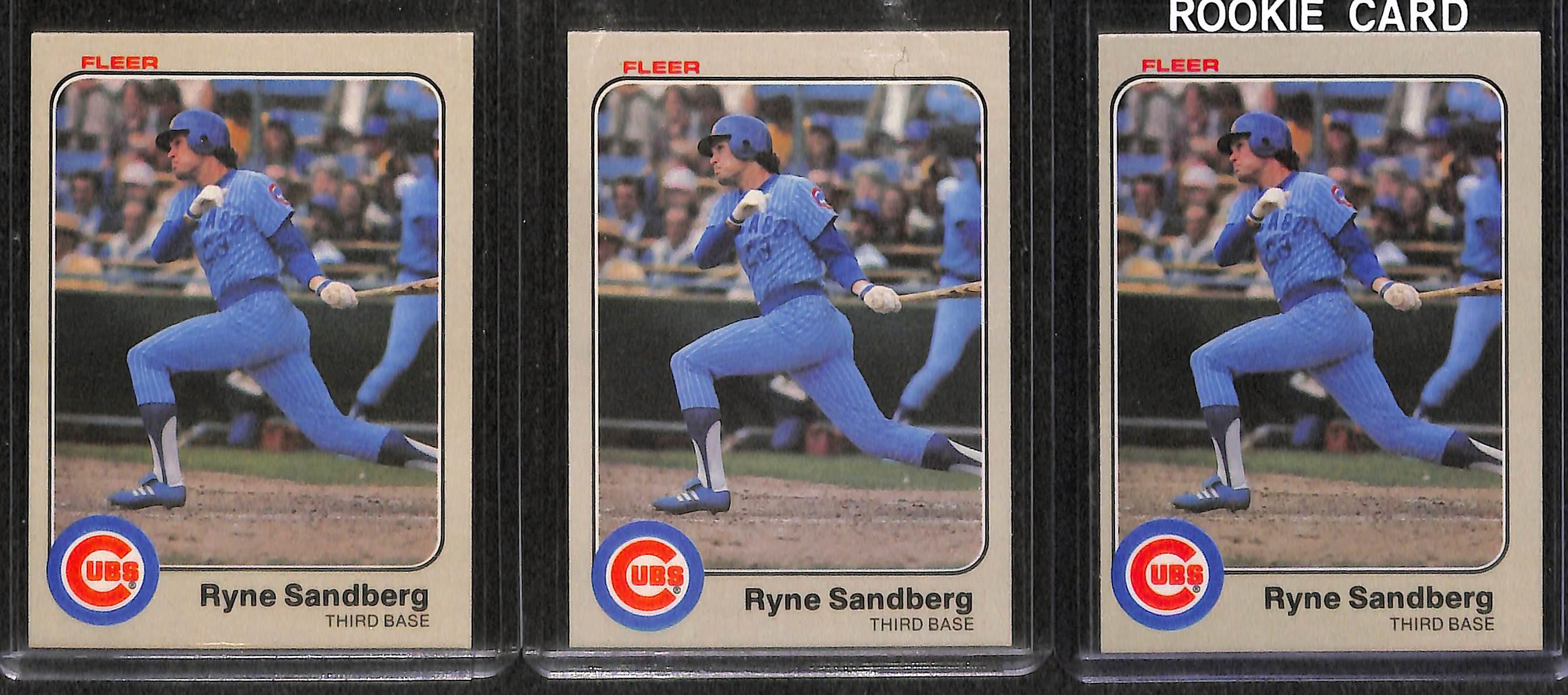 Lot Detail Lot Of 120 Ryne Sandberg Cards Inc 11 Rookies