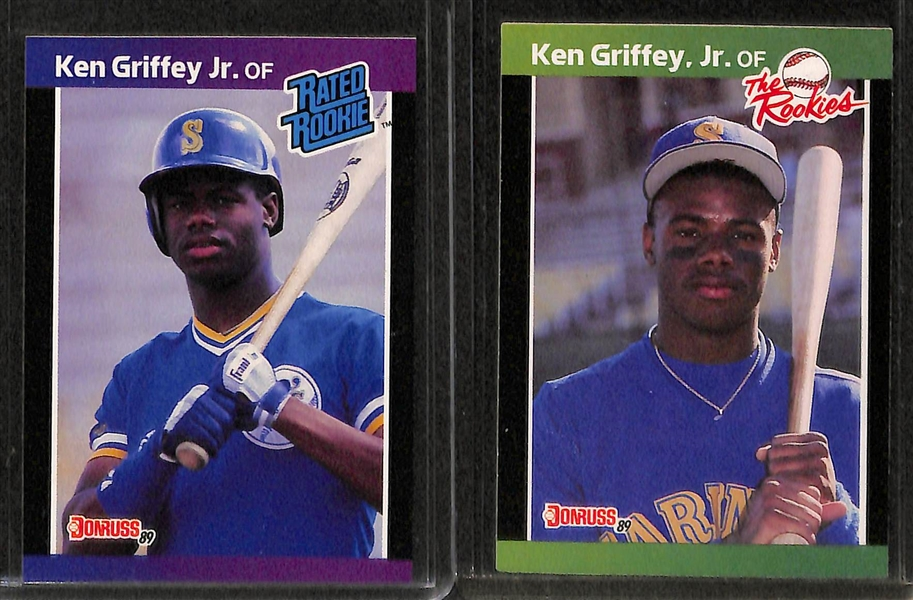 Lot Detail Lot Of Over 60 Ken Griffey Cards W 8 Rookies