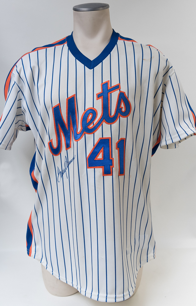new arrival c52b6 5085d Lot Detail - Tom Seaver Signed Mets Jersey - JSA