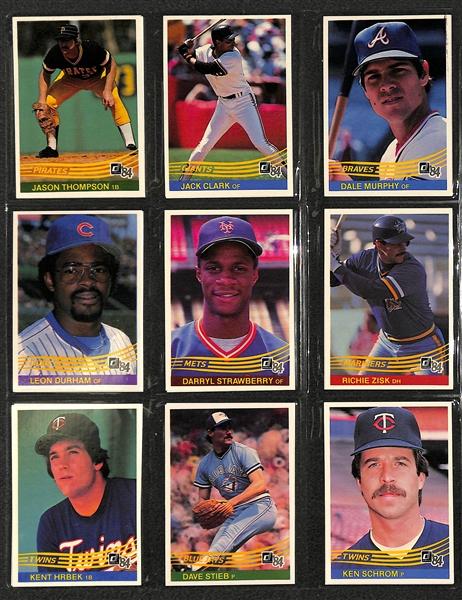 Lot Detail 1984 Donruss Baseball Card Set In Donruss Binder