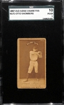1887 Old Judge Cigarettes N172 Otto Shomberg Card SGC 1