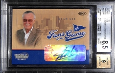 2004 Donruss Stan Lee Fans Of The Game Autograph Card Graded BGS 8.5 (w/ 9 Autograph Grade)