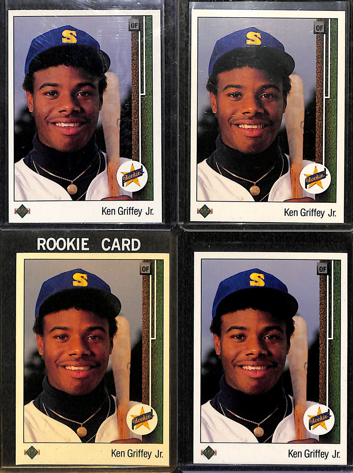 Lot Detail Lot Of 4 1989 Upper Deck Ken Griffey Jr Rookie Cards