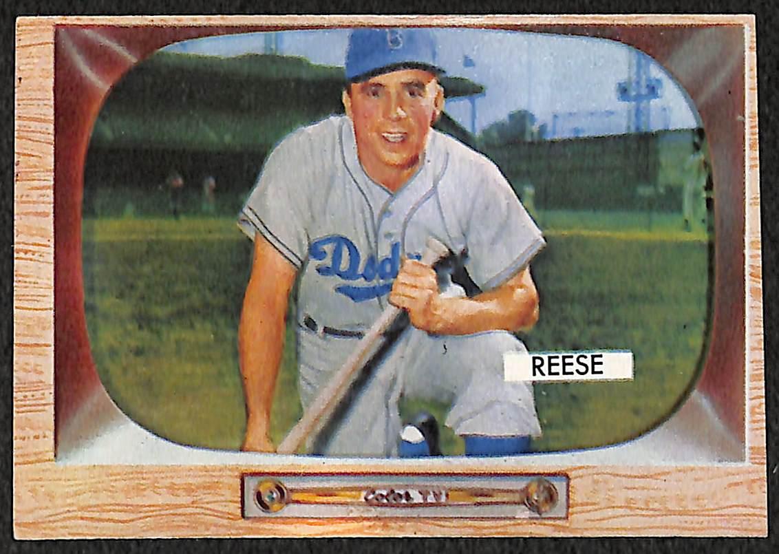 Lot Detail Lot Of 2 1955 Bowman Baseball Cards Peewee Reese