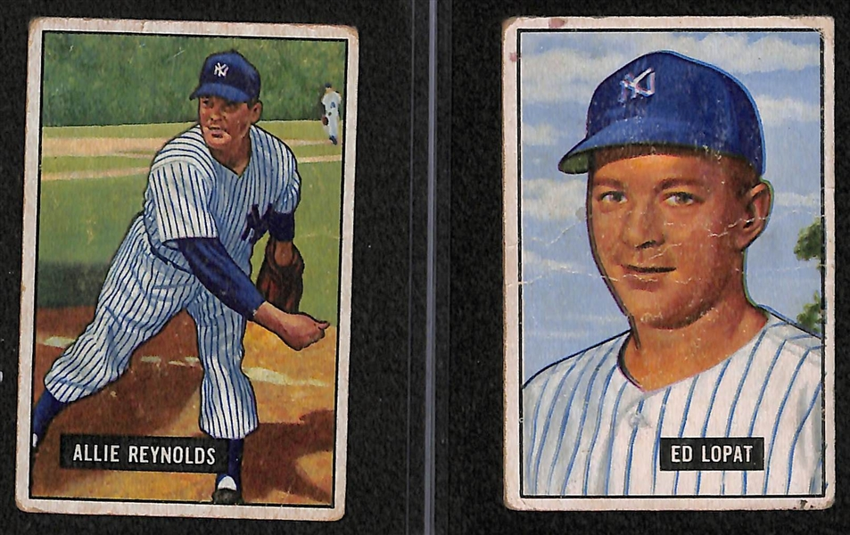 Lot Detail Lot Of 8 1951 Bowman Baseball Cards W Jackie