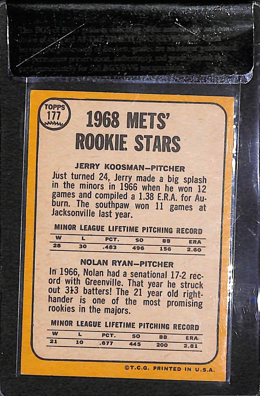 Lot Detail 1968 Topps Nolan Ryan Rookie Card Beckett Raw