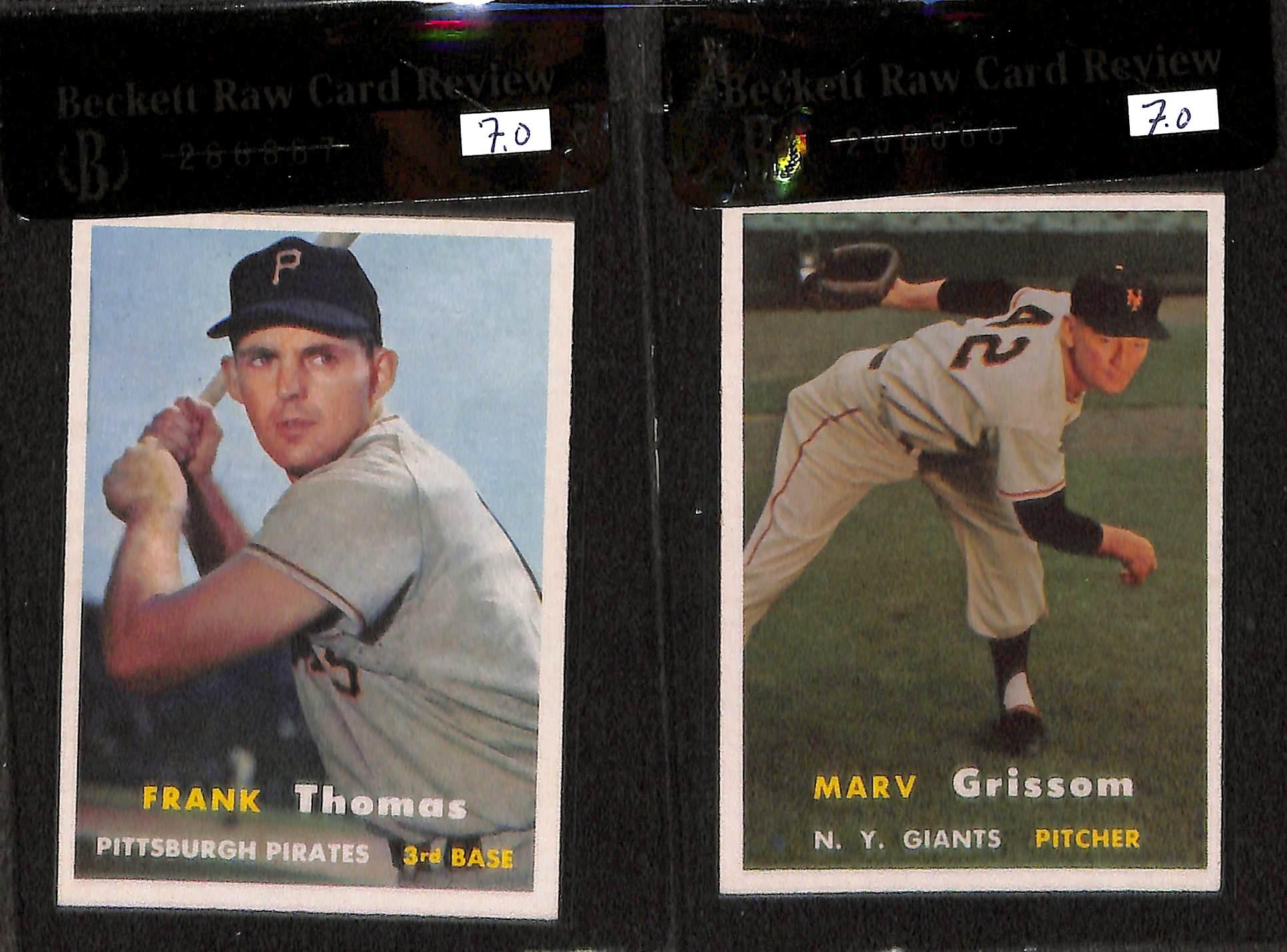 Lot Detail Lot Of 11 1957 Topps Graded Baseball Cards