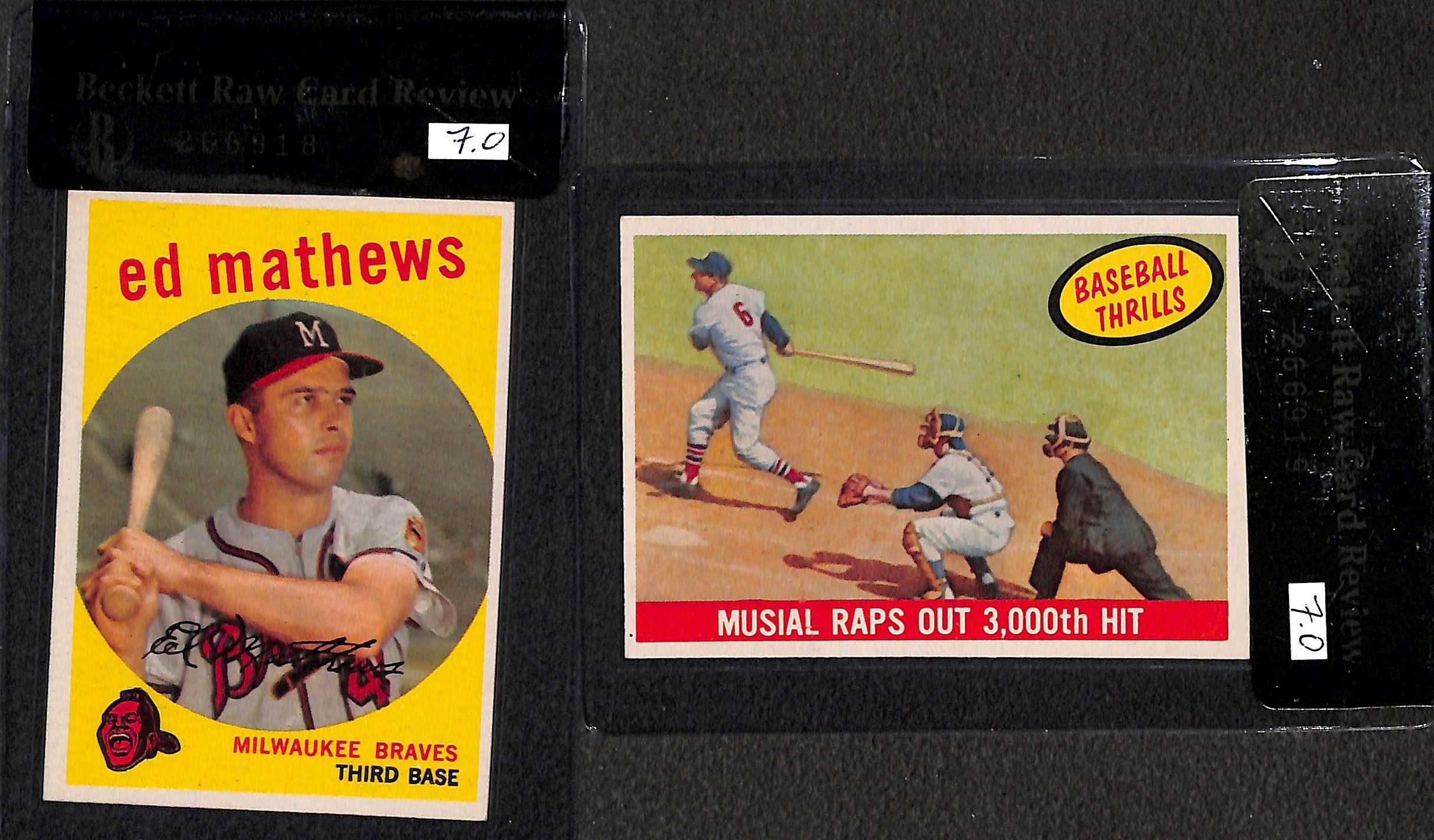 Lot Detail Lot Of 7 1959 Topps Graded Baseball Cards W