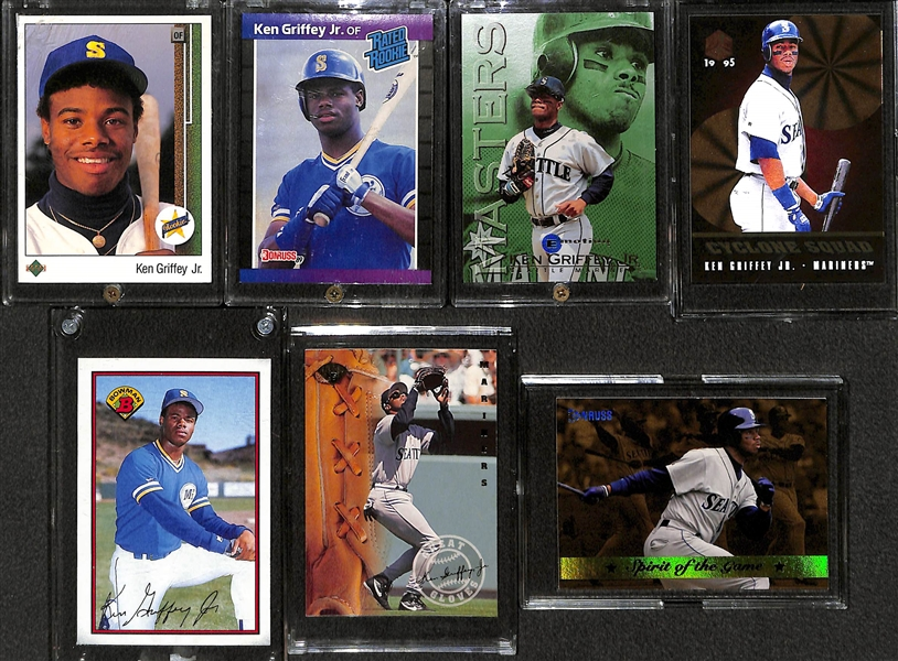 Lot Detail Lot Of 7 Ken Griffey Jr Baseball Cards W 1989