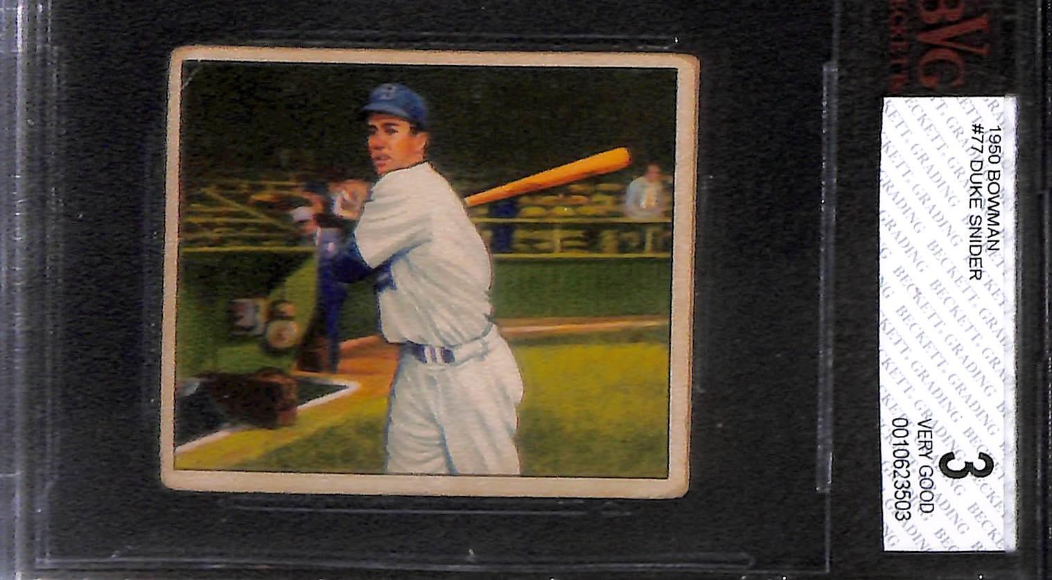 Lot Detail Lot Of 3 1950 Bowman Baseball Cards Reese