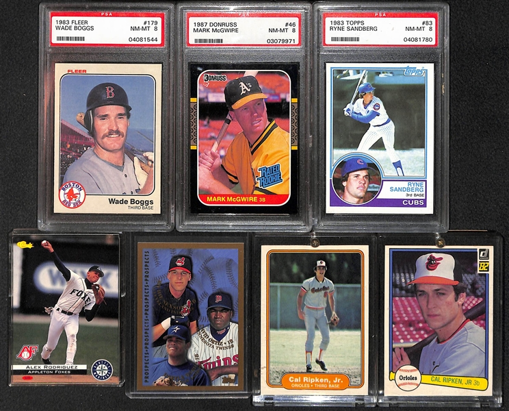 Lot Detail 7 Card Baseball Rookie Lot W 2 Ripken