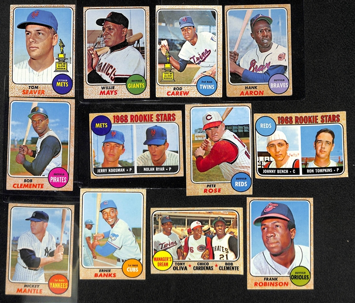 Lot Detail 1968 Topps Baseball Complete Set All 598 Cards