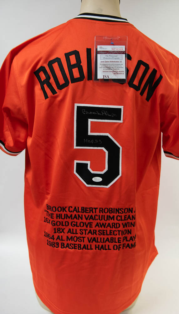 9952d03b6 Lot Detail - Brooks Robinson Signed Orioles Stat Jersey - JSA