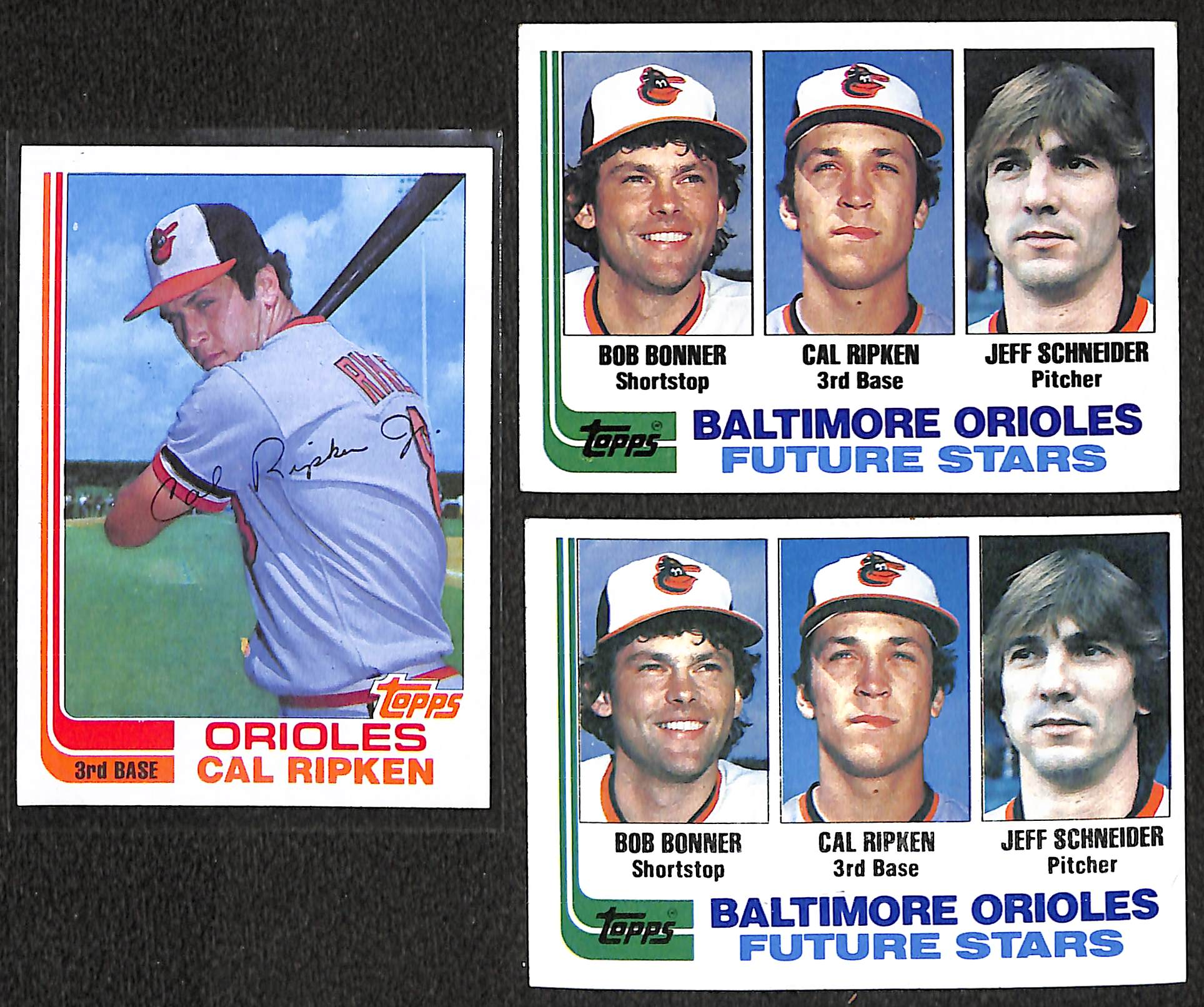 Lot Detail Lot Of 3 1982 Topps Cal Ripken Jr Rookie Card W Topps