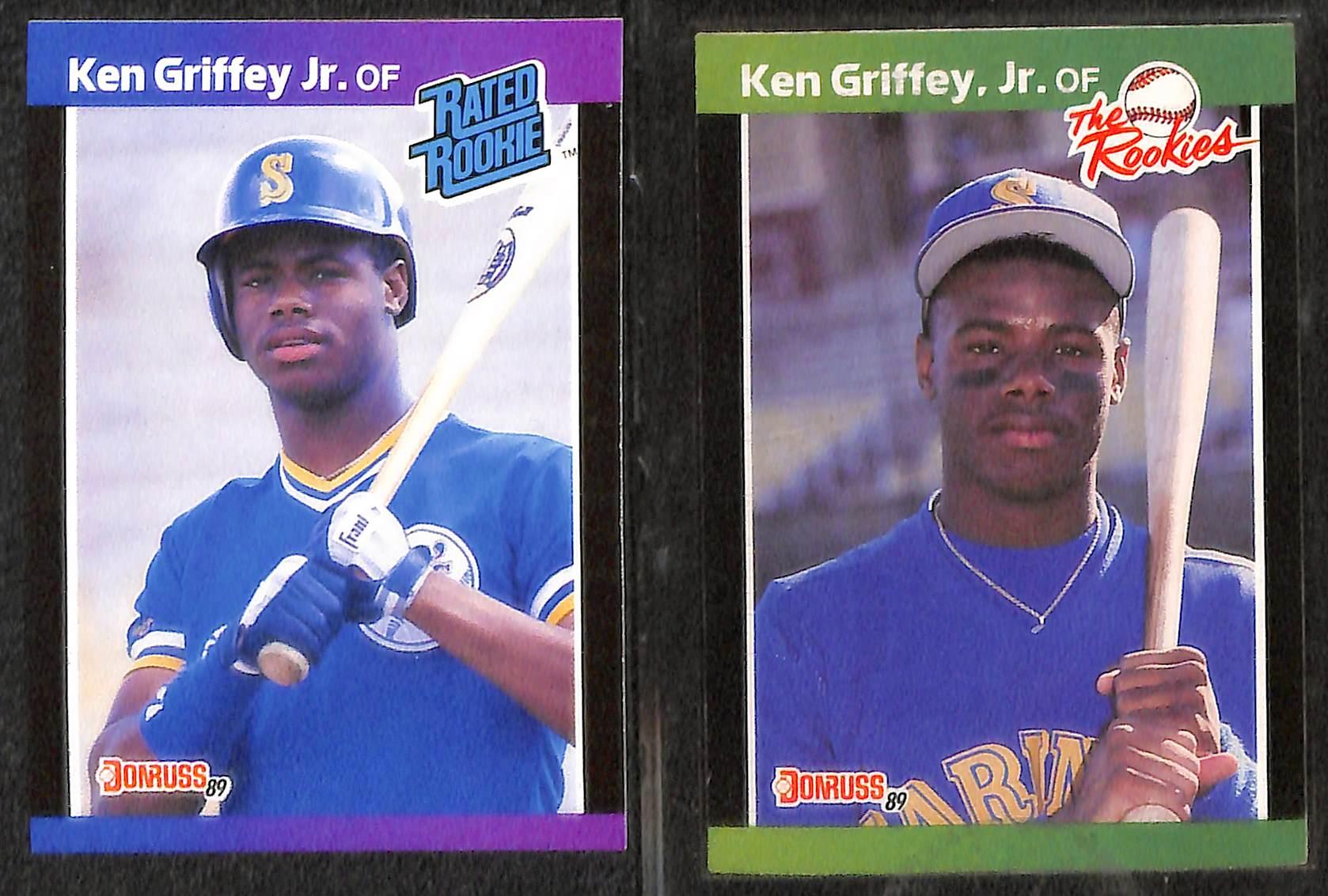 Lot Detail Lot Of 7 Ken Griffey Jr Rookie Cards Inc