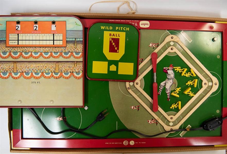 Lot Detail - Lot of 2 Vintage Electric Baseball Games