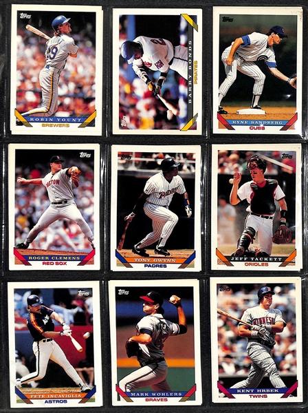 Lot Detail 1993 Topps 2001 Topps Baseball Complete Card Sets